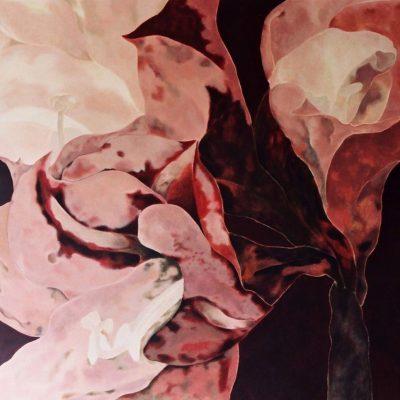 Amaryllis. Wandschildering 250-250 cm