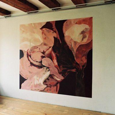 Amaryllis. Wandschildering, 250-250 cm
